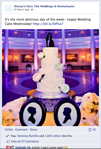 I just LOVE our beautiful cake...and apparently 1,000+ other people do too!