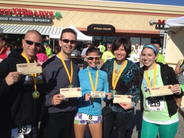 Sean, Dwayne, Angie (2nd Female overall with cash prize), Silvia, and Me!  Photo borrowed from Silvia.