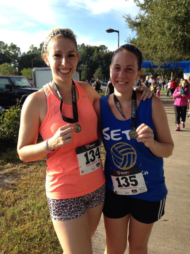 Marci & I post-race.